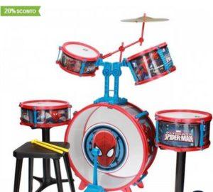 Idee regalo Natale bambini da 6 anni - Batteria Spiderman