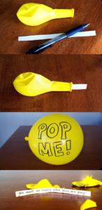 Messaggio nel palloncino - idee regalo san valentino fai da te