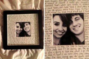 Foto con lettera d'amore - idee regalo san valentino fai da te
