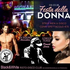 black and white con strip festa delle donne 2018 napoli