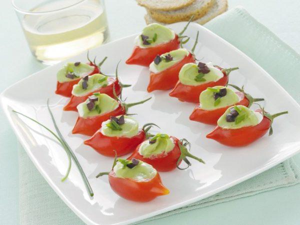 Mousse con pomodorini al profumo di basilico