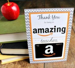Regali per le maestre: gift card amazon
