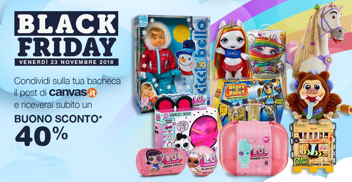 Black Friday giocattoli online 2018