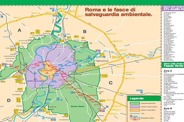 Fascia verde Roma: strade percorribili e mappa