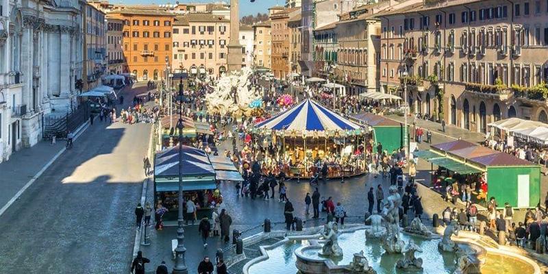 Befana a piazza Navona 2019