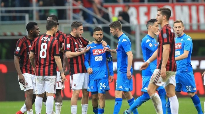 Milan Napoli dove vederla: partita 26 Gennaio e Coppa Italia