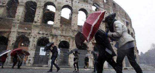 Vento forte a Roma oggi