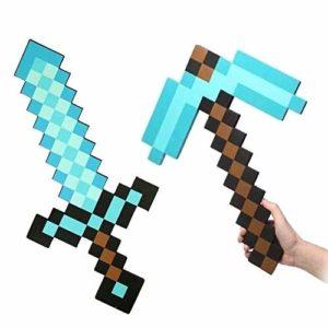 Minecraft giocattoli prezzo: spada e piccone incantati