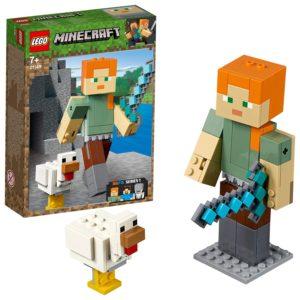 Minecraft giocattoli prezzo personaggi: Alex con la gallina