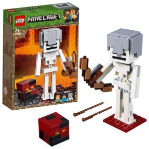 minecraft giocattoli prezzo personaggi: scheletro con cubo di magma