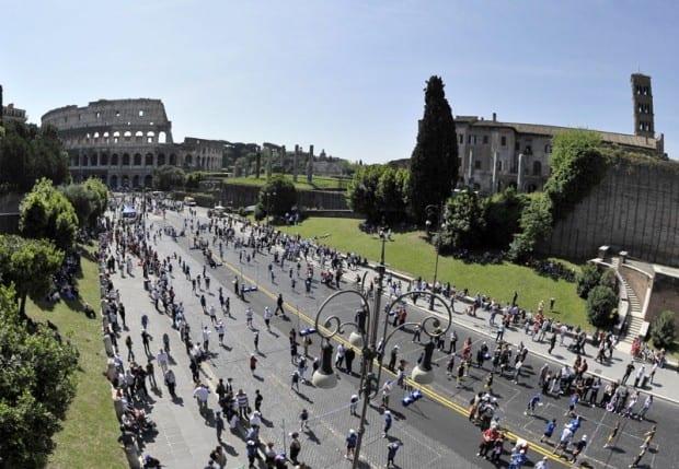 Roma strade chiuse domenica 28 Aprile