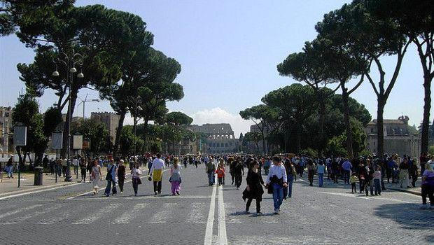 Roma blocco traffico Domenica 12 Maggio