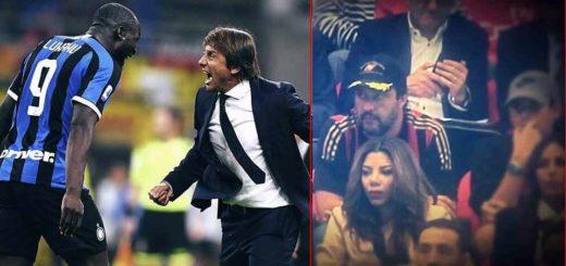 Inter Milan 2-0: la faccia di Matteo Salvini