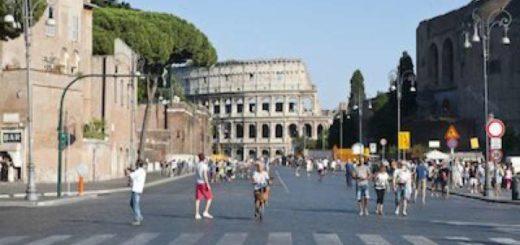 Roma blocco traffico Domenica 20 Ottobre