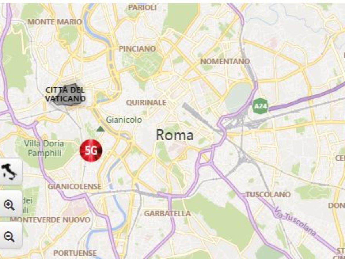 Roma Centro Cartina.Antenne 5 G Roma Mappa Dove Sono State Messe Nella Capitale